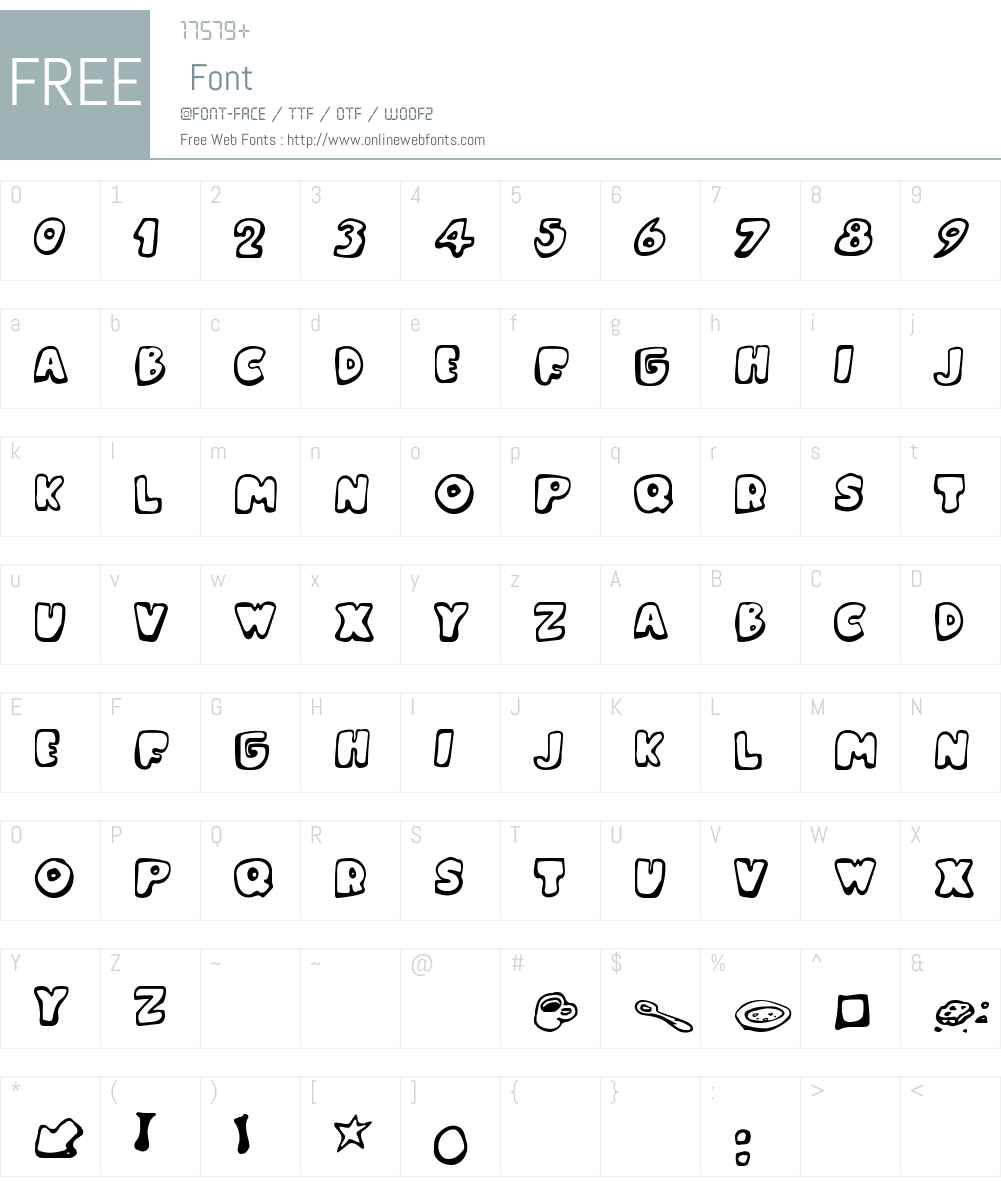 Messy Fika Font Screenshots