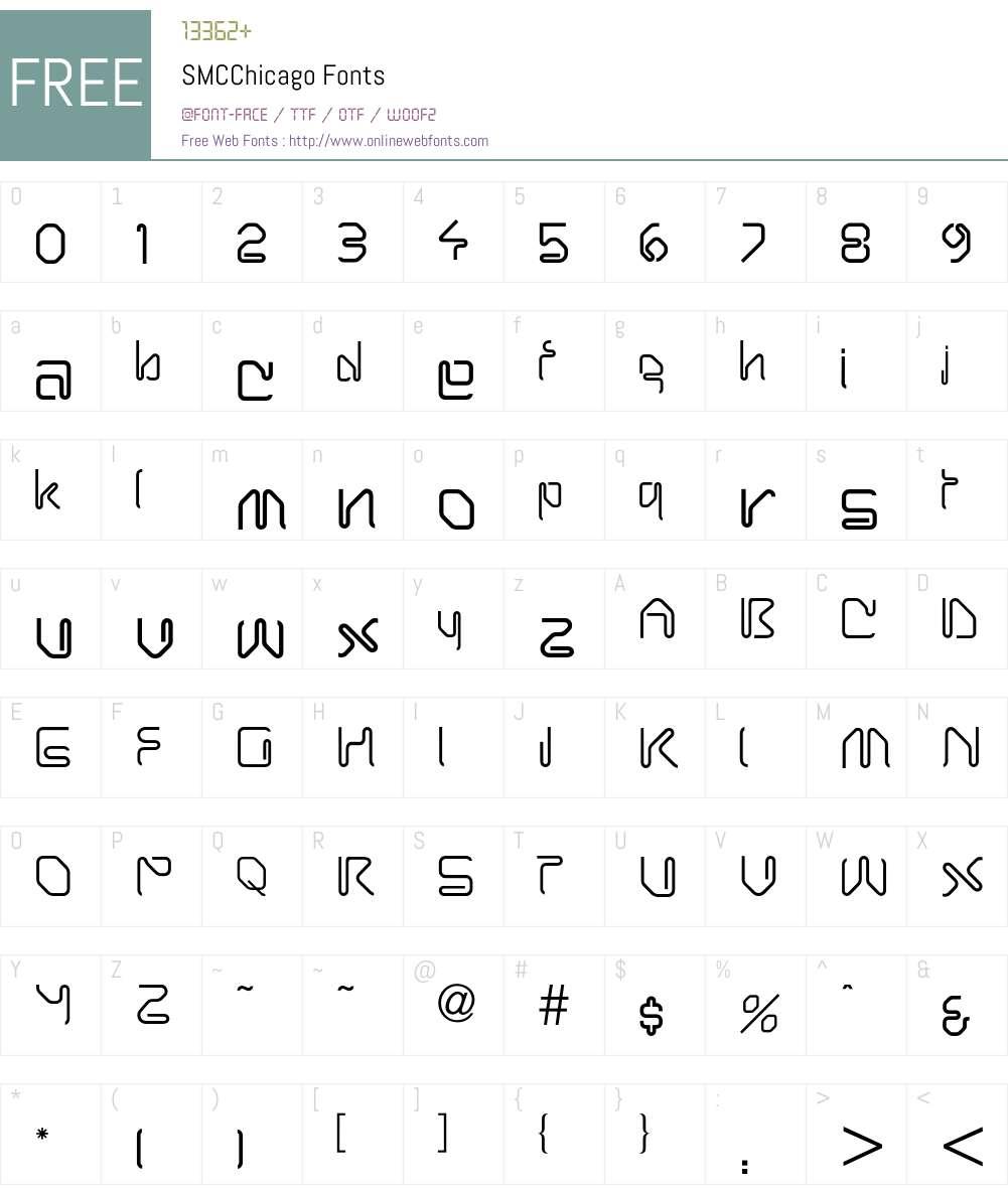 SMCChicago Font Screenshots