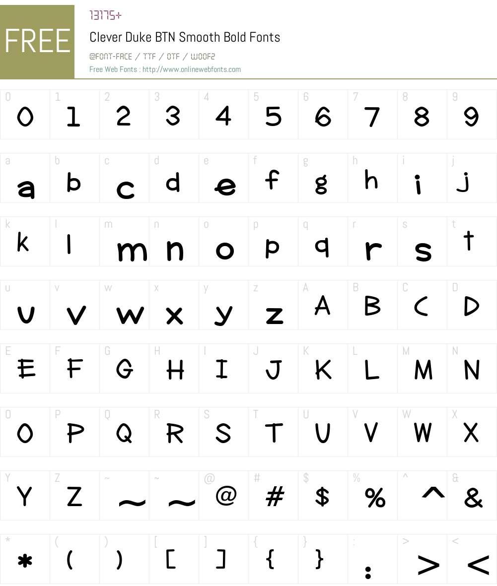 Clever Duke BTN Smooth Font Screenshots