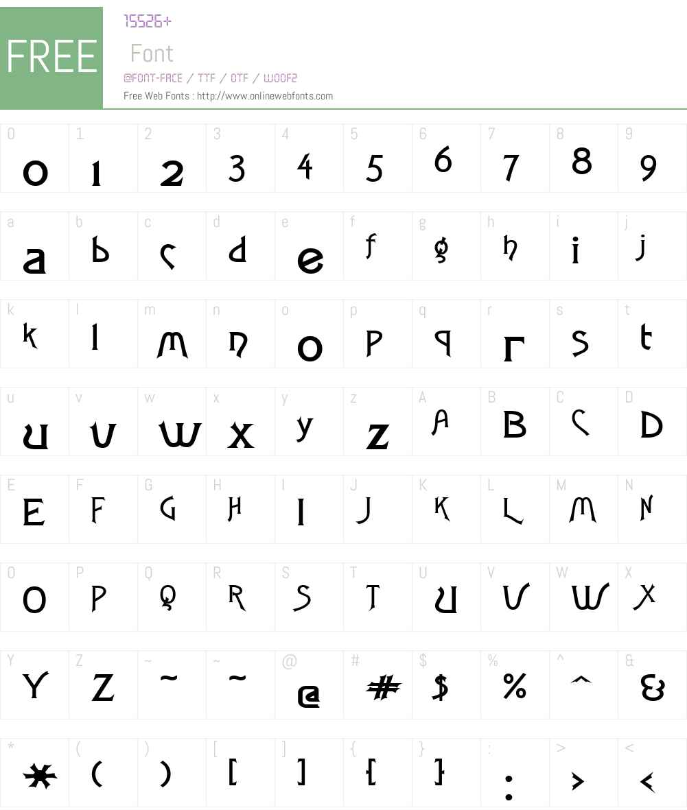 Fletch Wide Font Screenshots