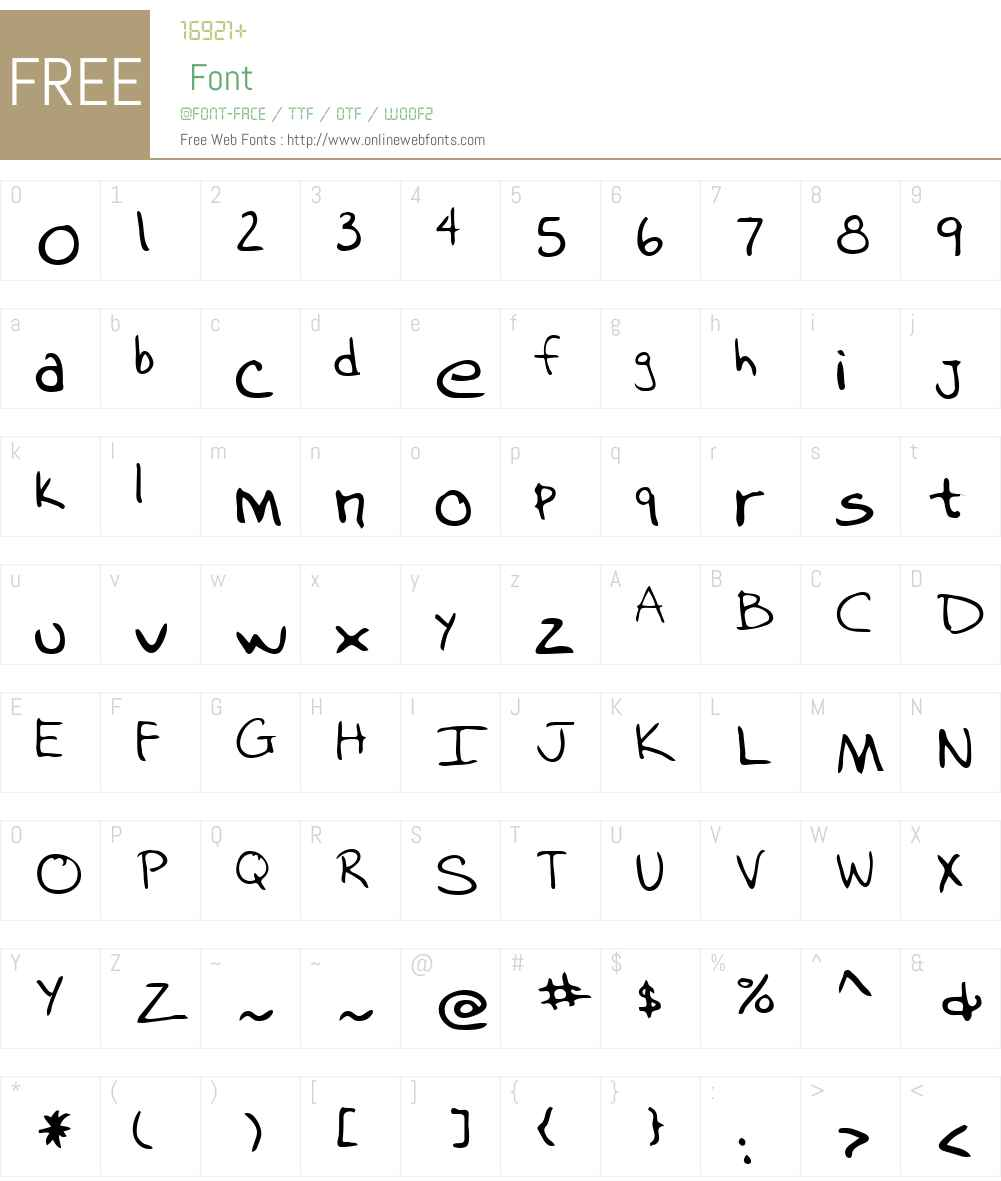 Kubis Font Screenshots