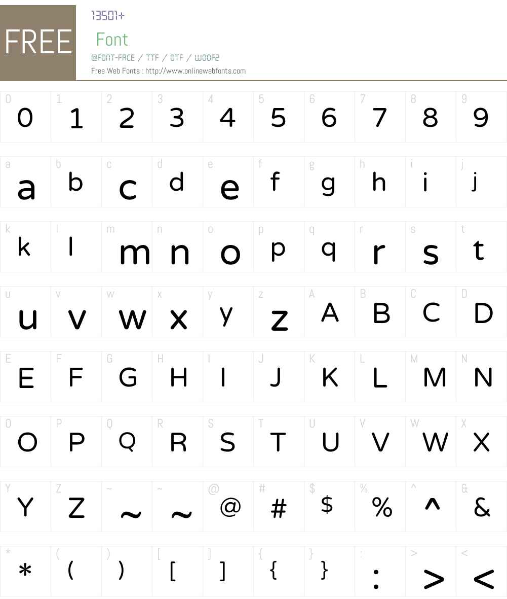 Varela Round Font Screenshots