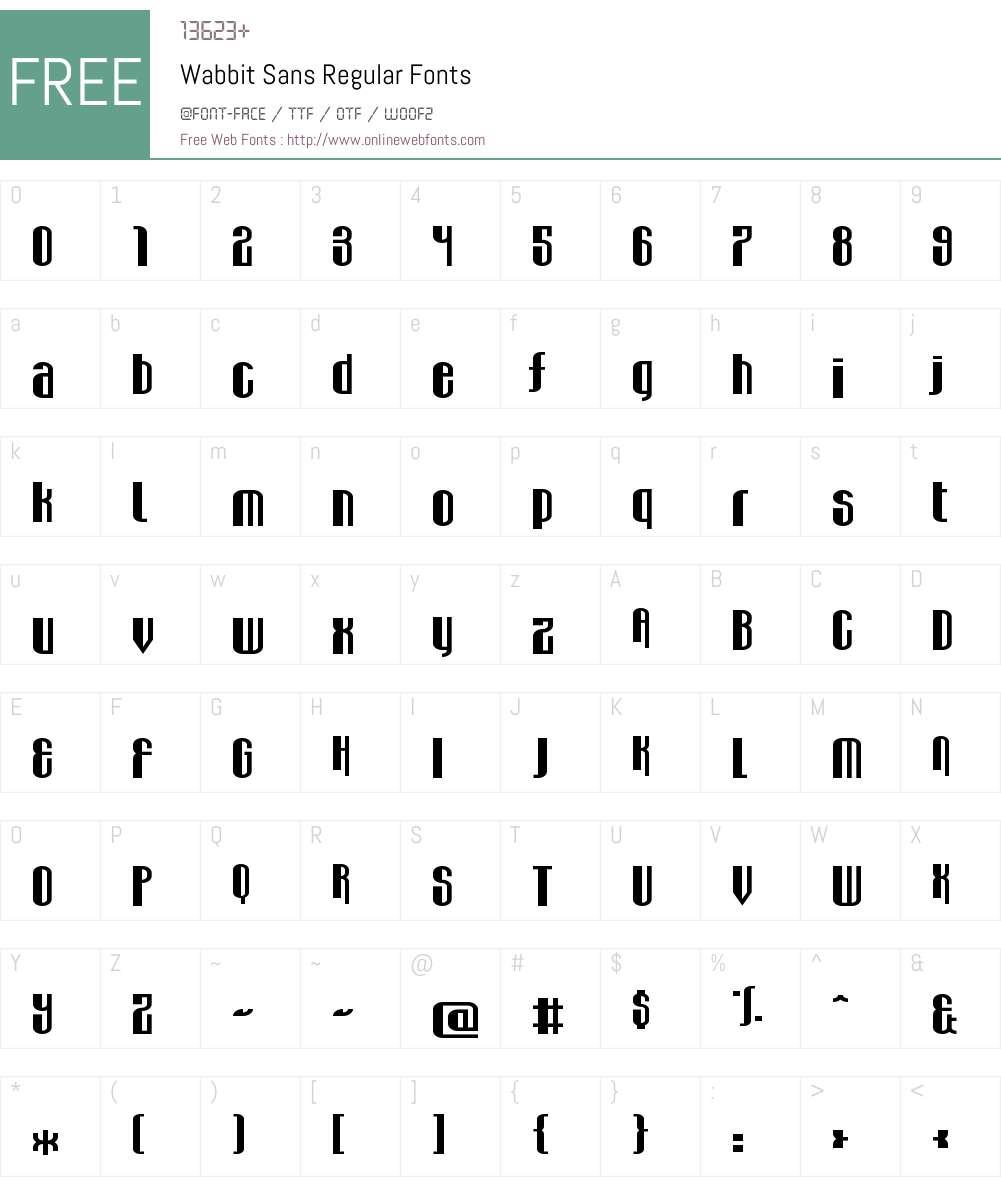 Wabbit Sans Font Screenshots