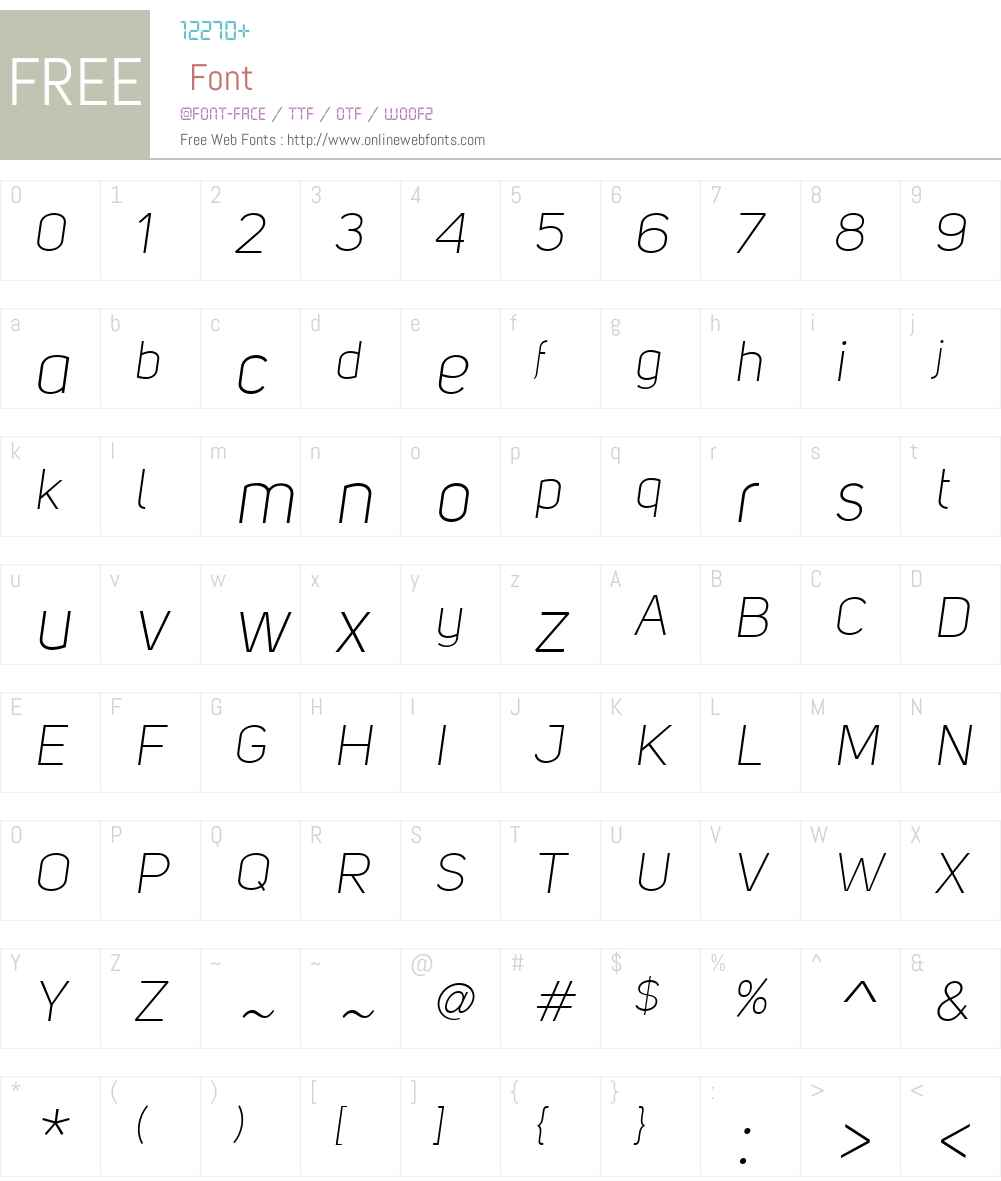 UniSansW01-LightItalic Font Screenshots