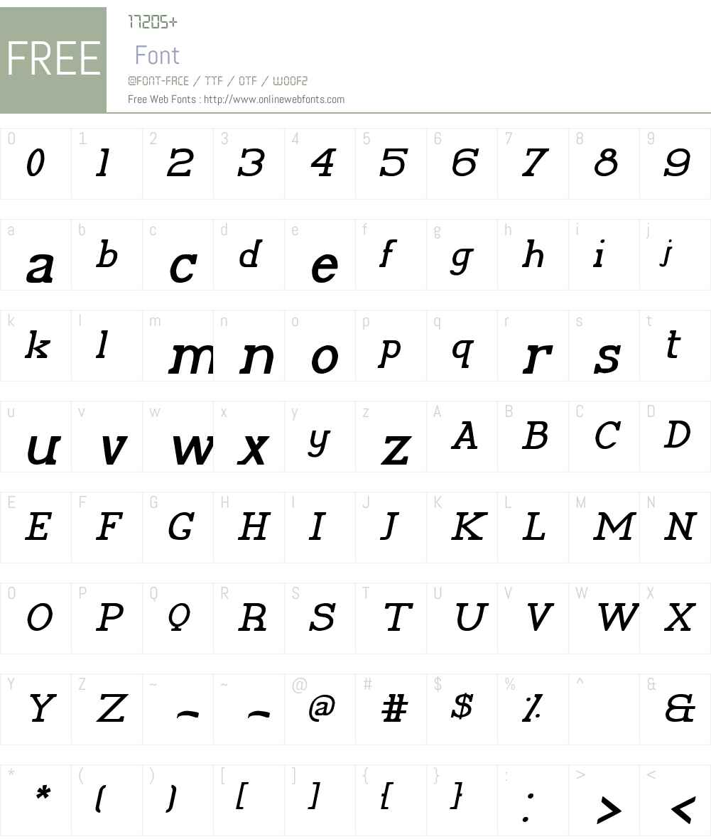 Plida Font Screenshots