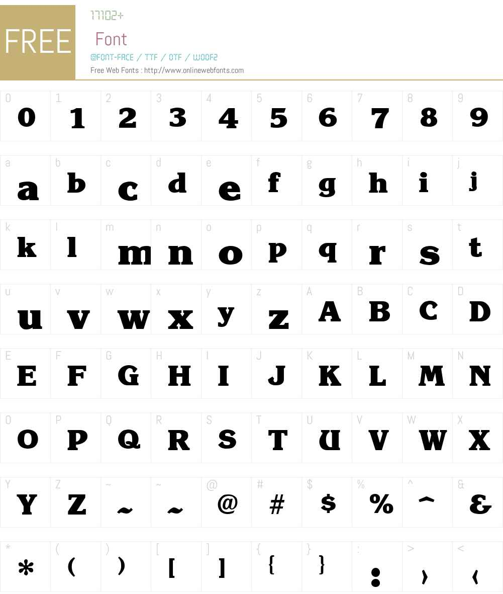 Krone ExtraBold Font Screenshots