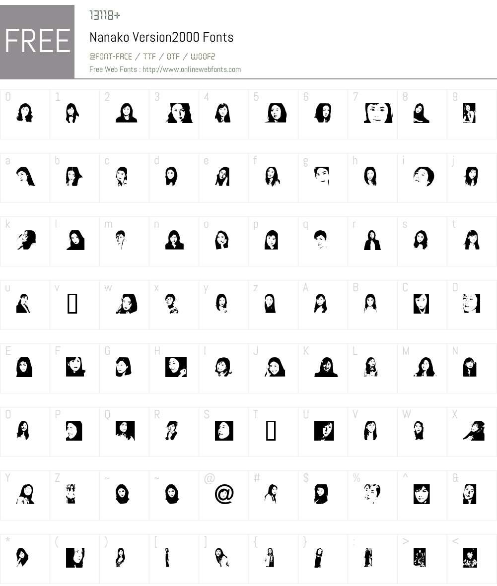 Nanako Font Screenshots