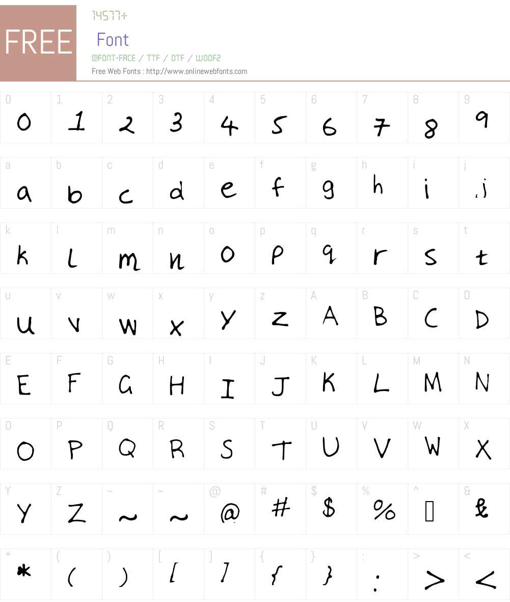 MyHandwriting Font Screenshots