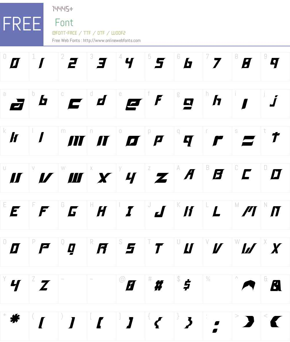Firgo Font Screenshots