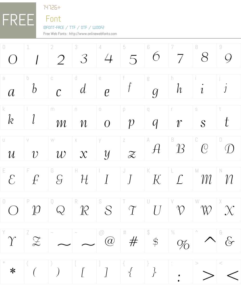 129-CAI978 Font Screenshots