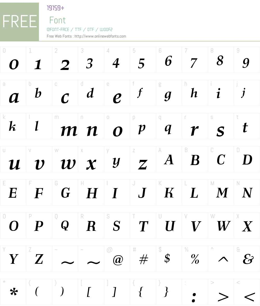 Richler Font Screenshots