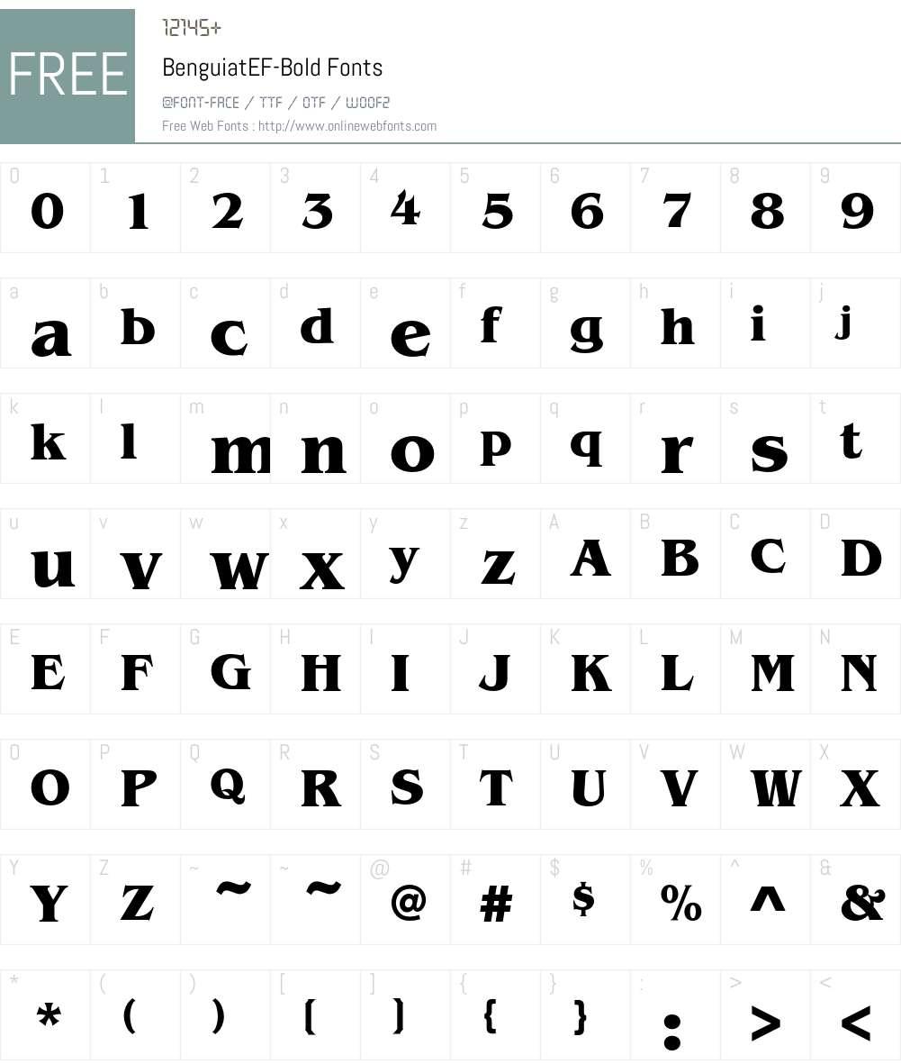 BenguiatEF-Bold Font Screenshots
