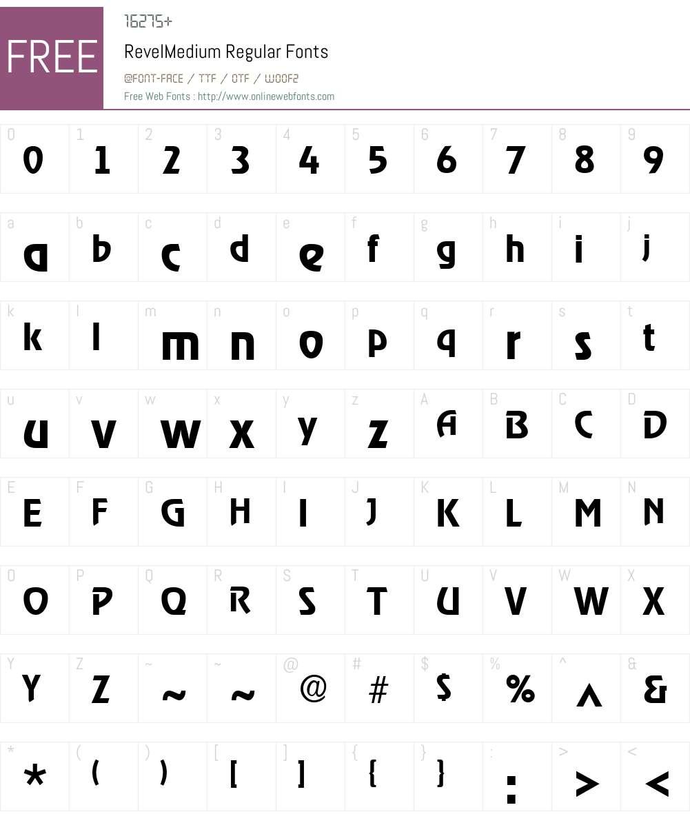 RevelMedium Font Screenshots