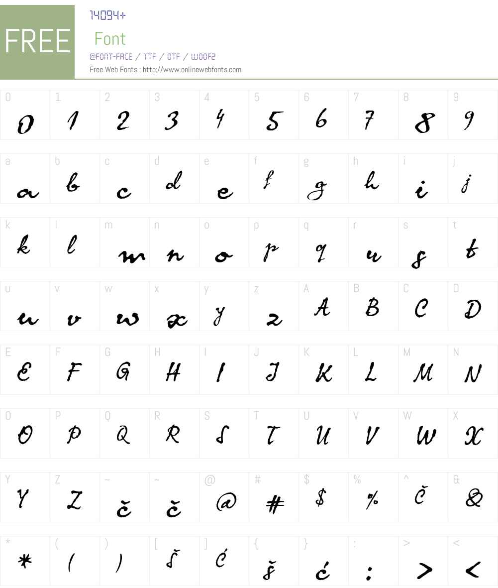 KomaLatin Font Screenshots