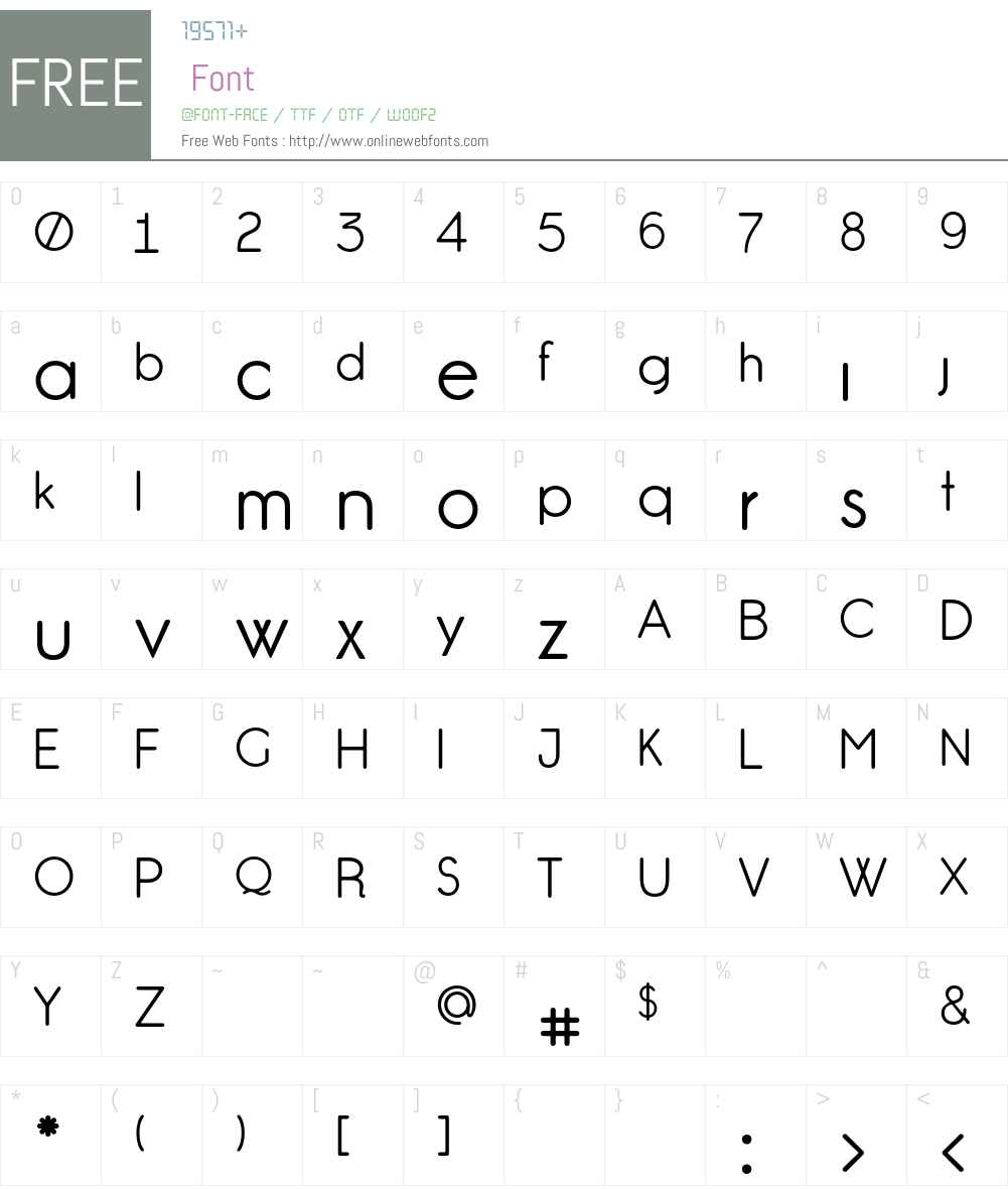 GardensC Font Screenshots