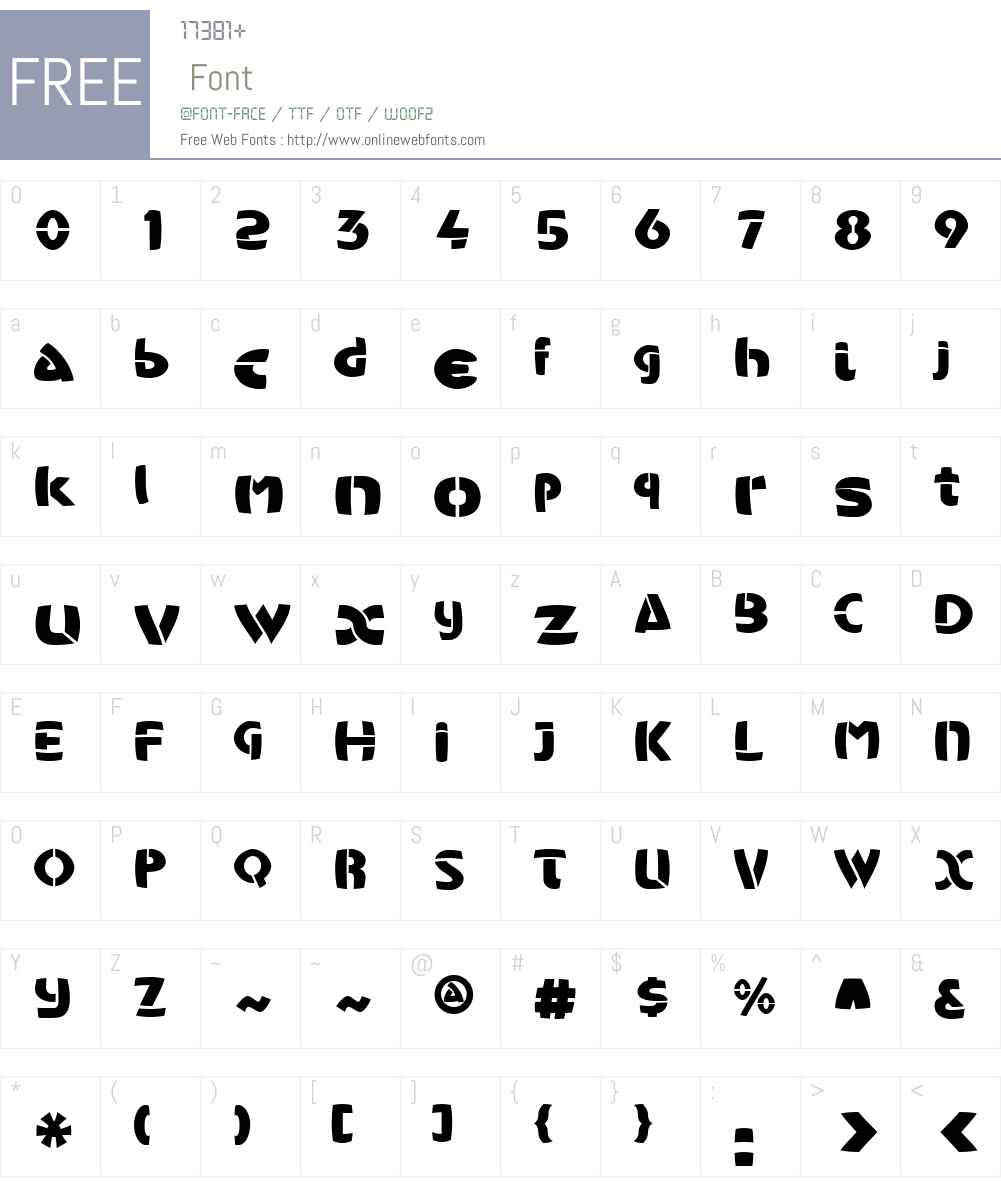 KubaAppliqueW01-Regular Font Screenshots