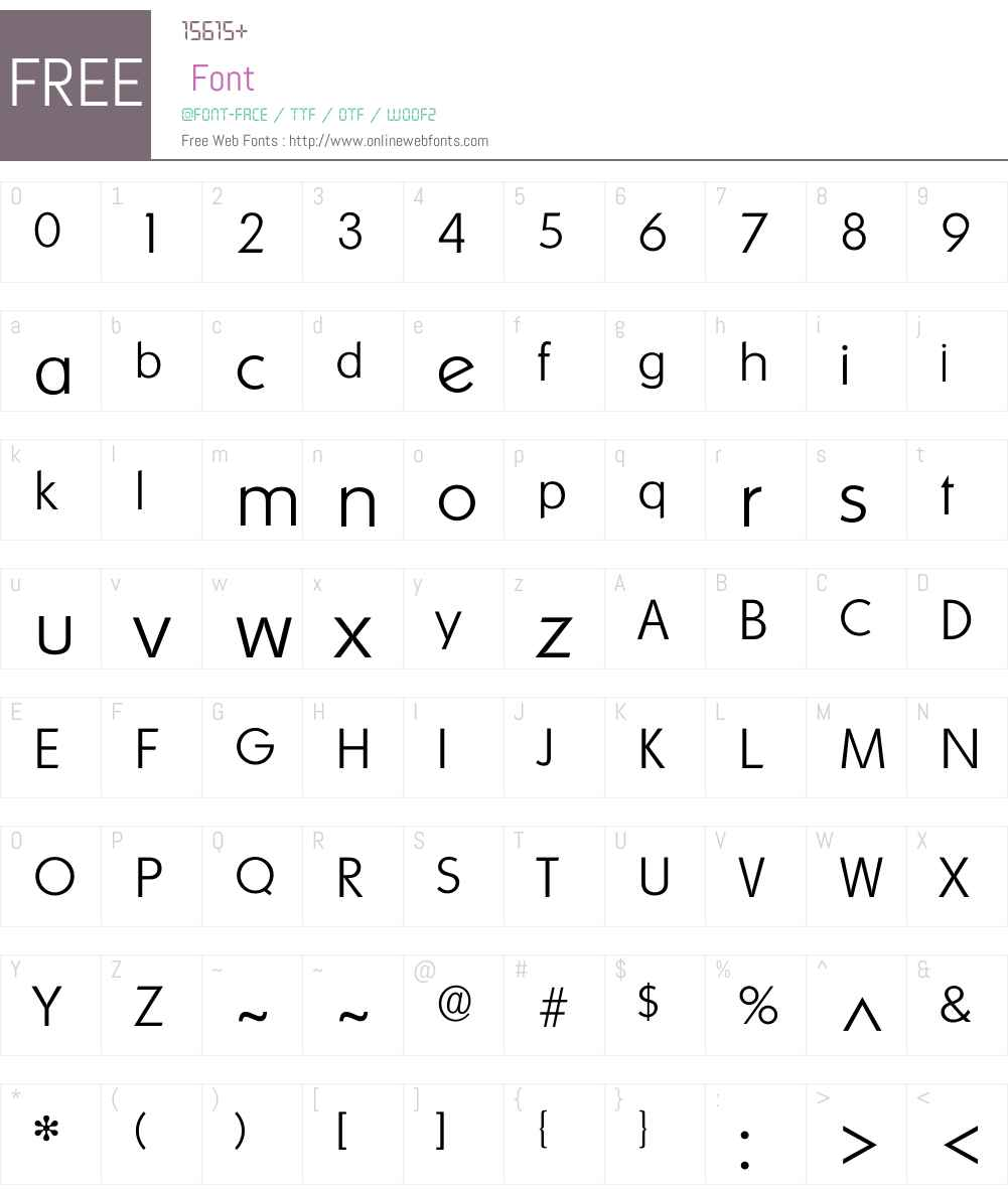 Ornito Font Screenshots
