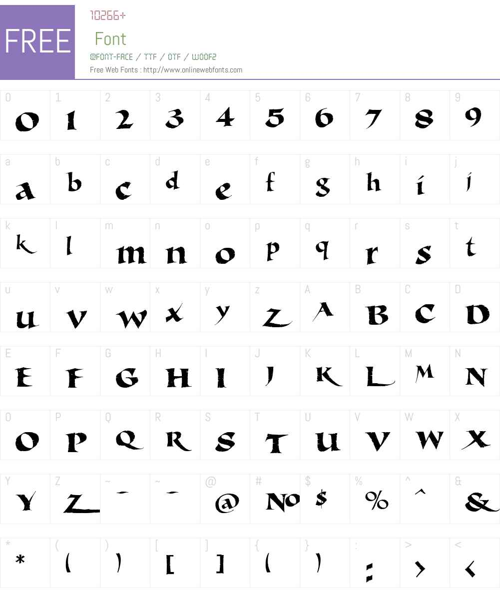 LHF Michelle Distressed Font Screenshots