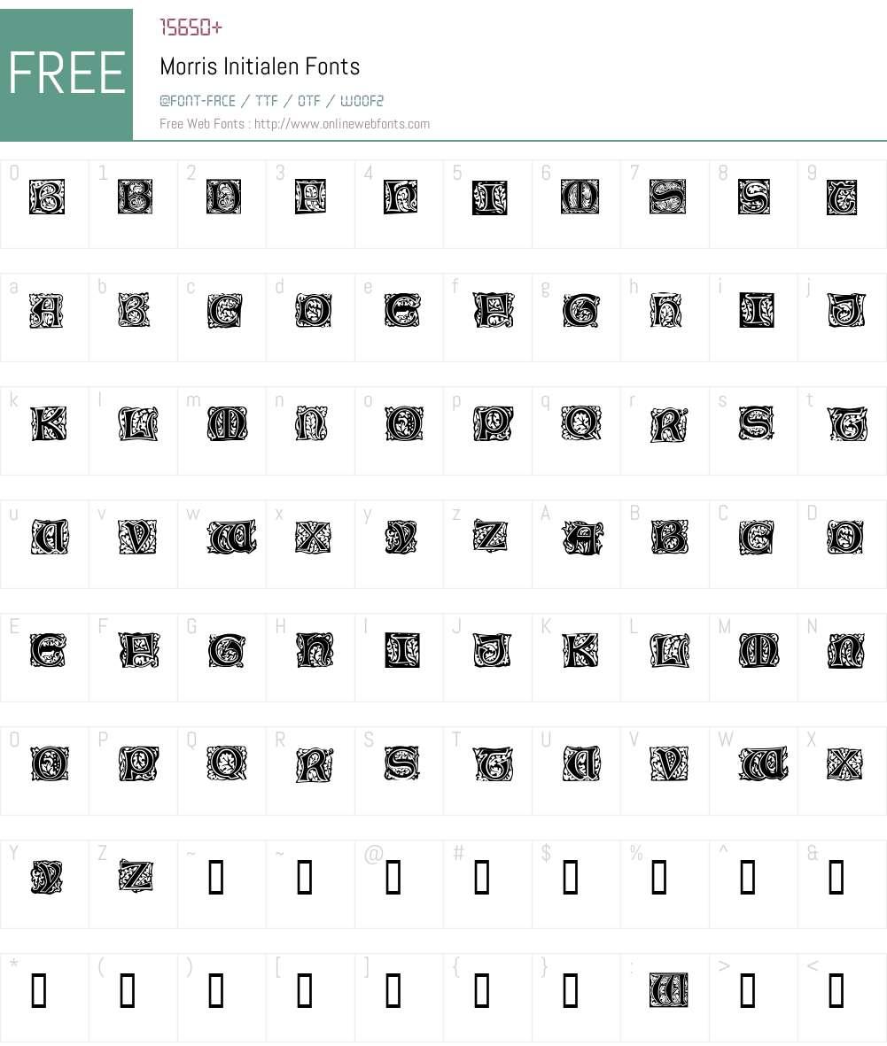Morris Initialen Font Screenshots