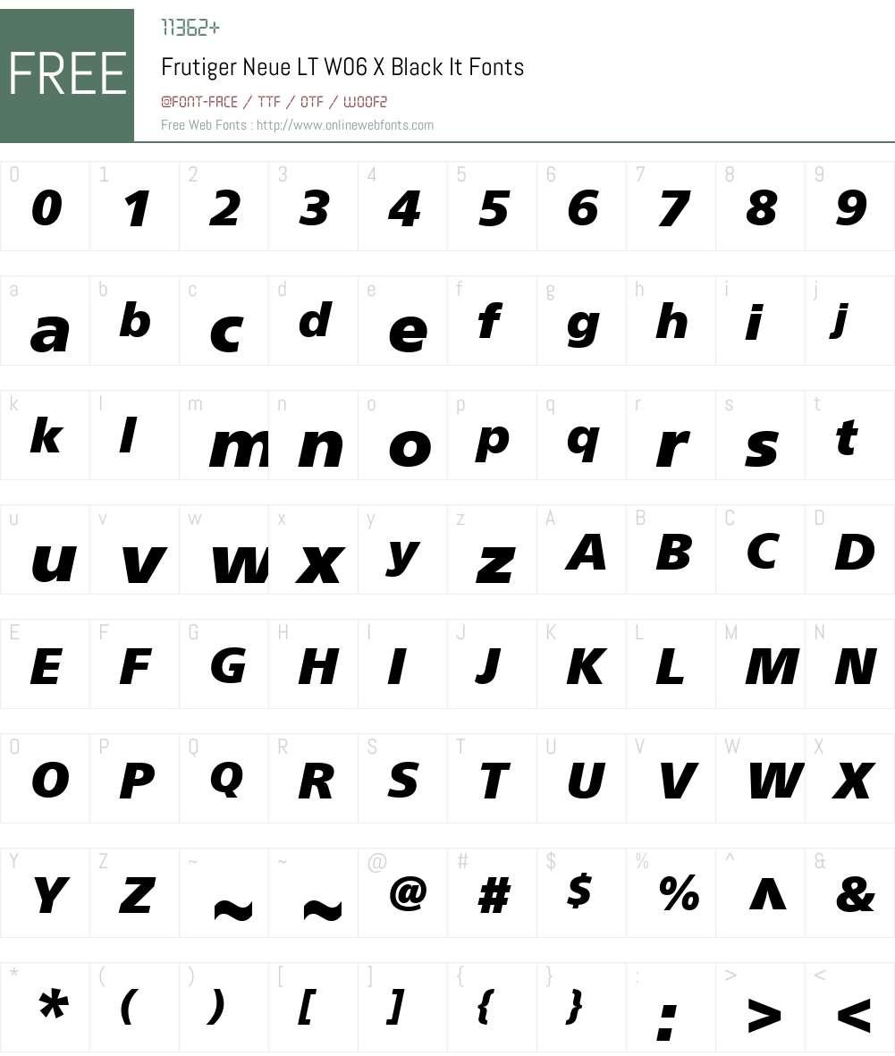 Neue Frutiger Font Screenshots
