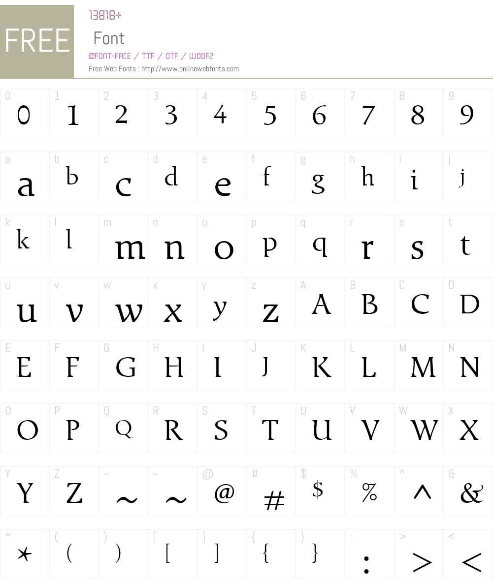 ExlibrisW01 Font Screenshots