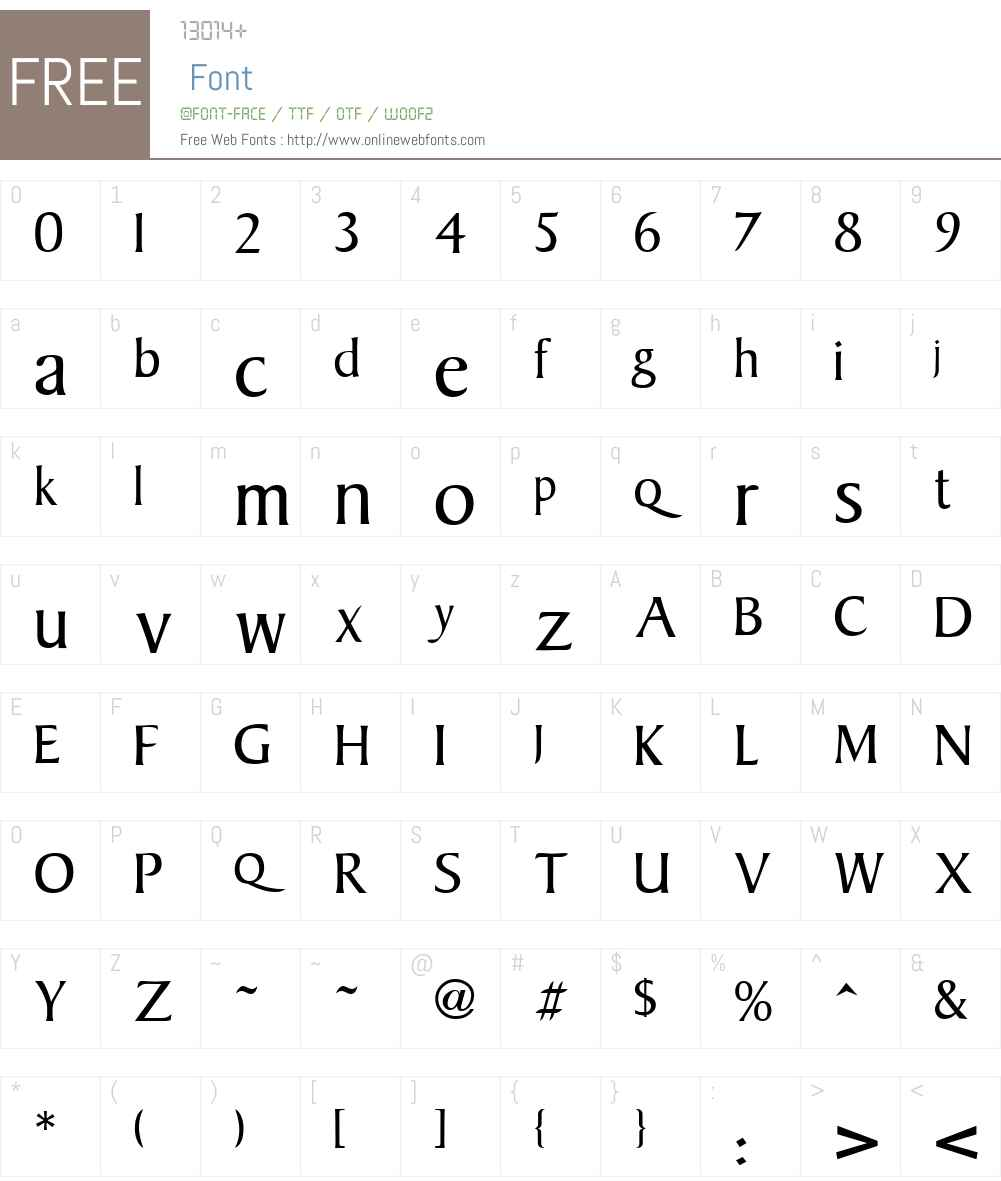 Baker Font Screenshots