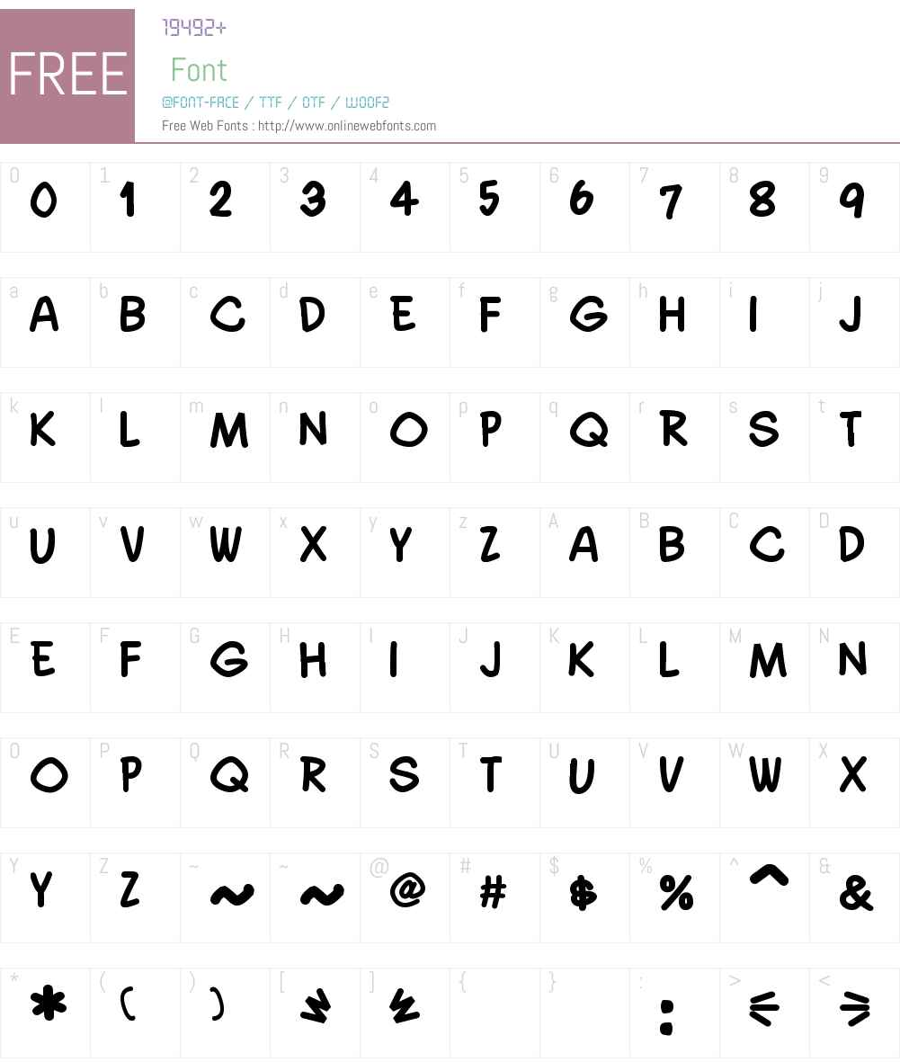 Quadrus Semicond Font Screenshots