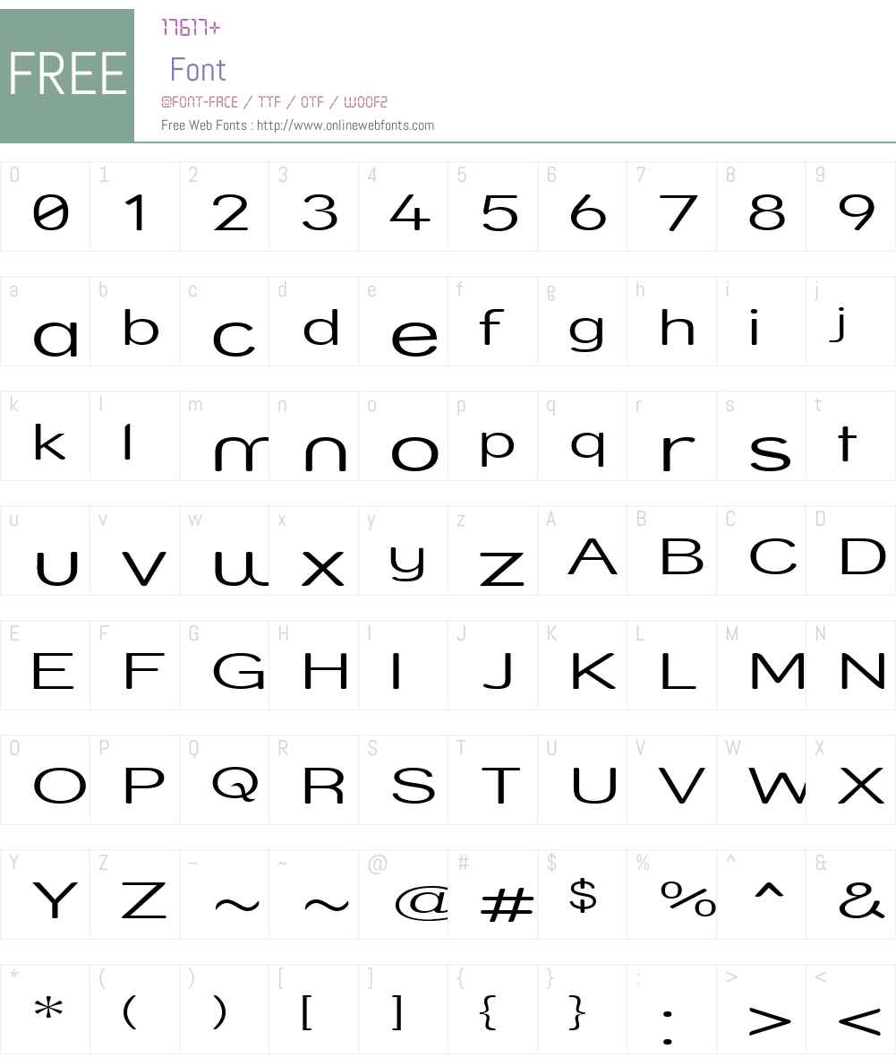 Street  Light Compressed Font Screenshots