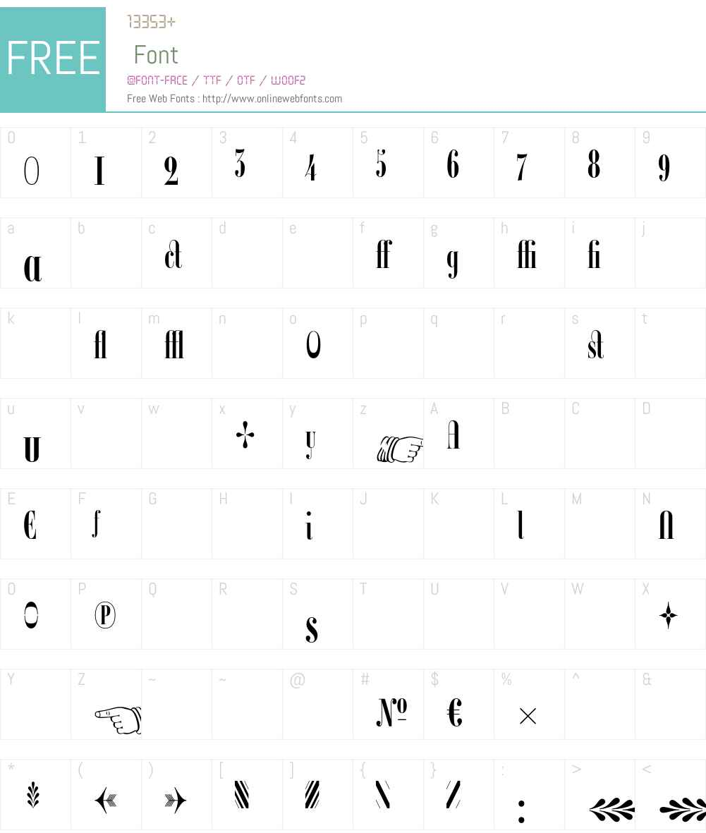 Ambroise Francois Font Screenshots