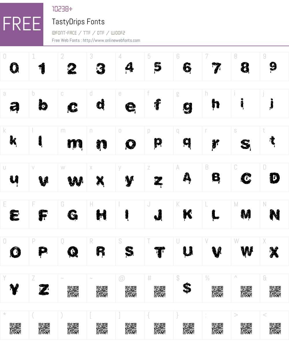 TastyDrips Font Screenshots