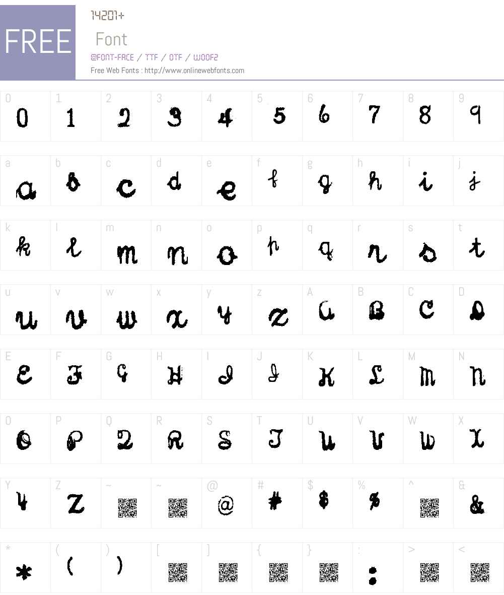 Sterling Keys Font Screenshots