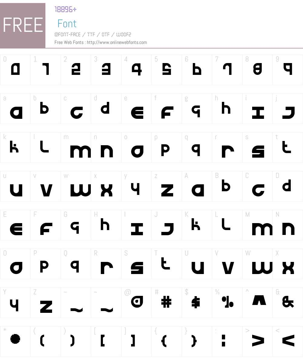 Urban Curve Font Screenshots