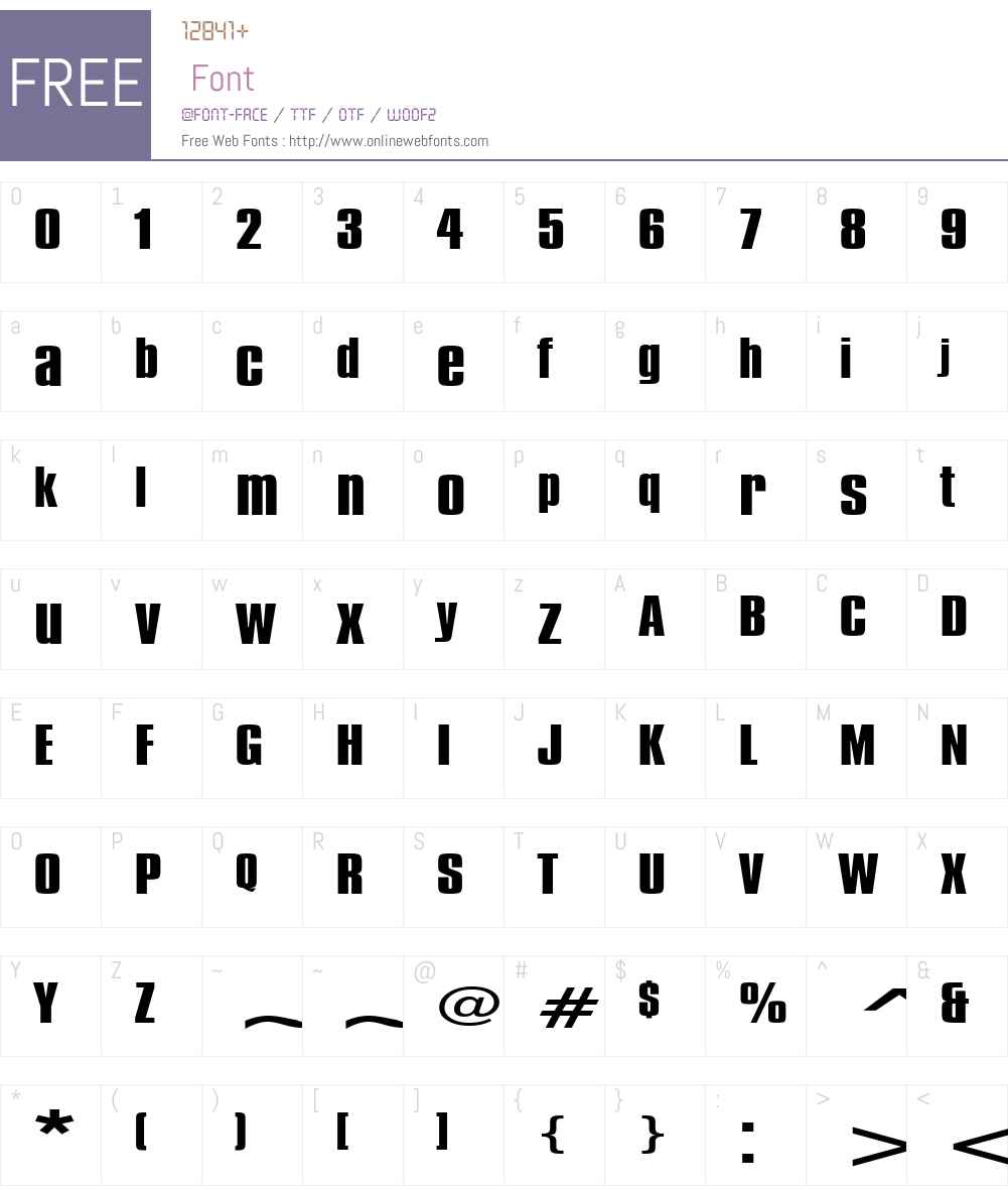 Commador Extended Font Screenshots