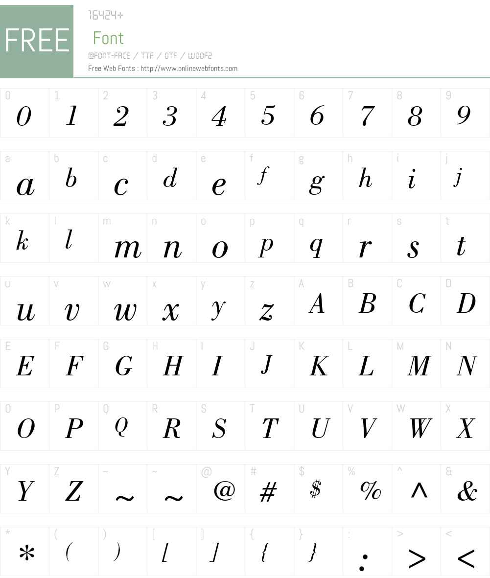 Bodoni Std Font Screenshots