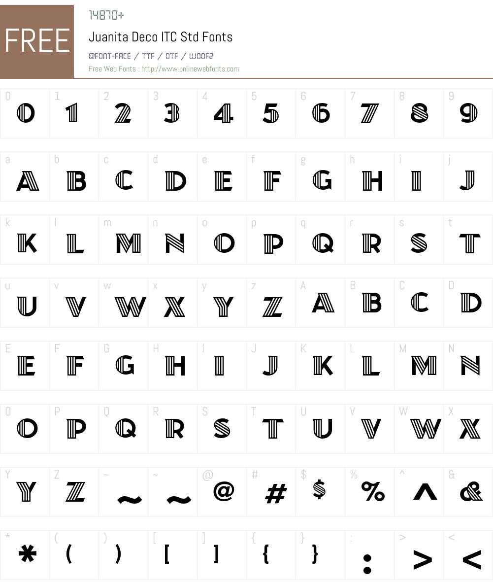 Juanita Deco ITC Std Font Screenshots
