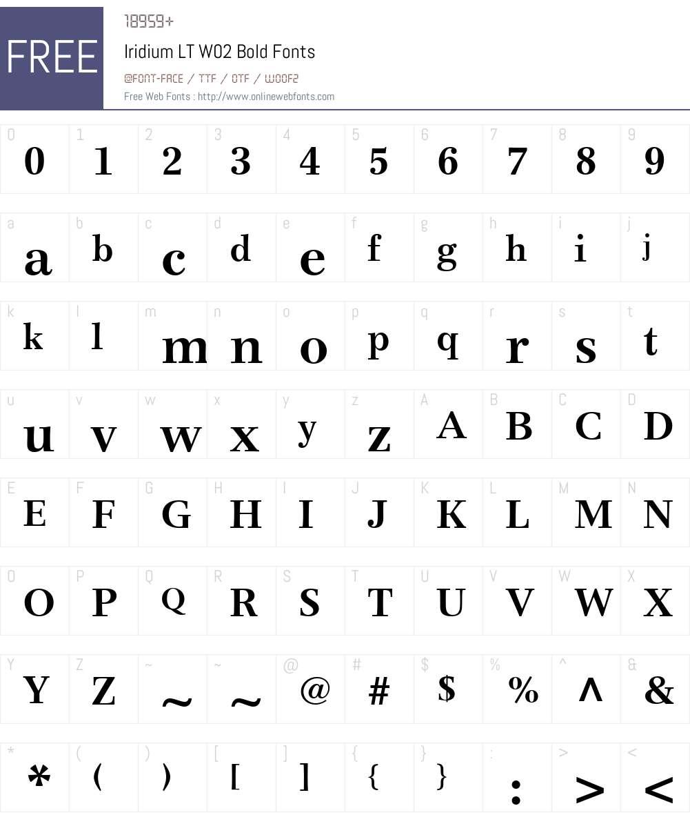 Iridium Font Screenshots