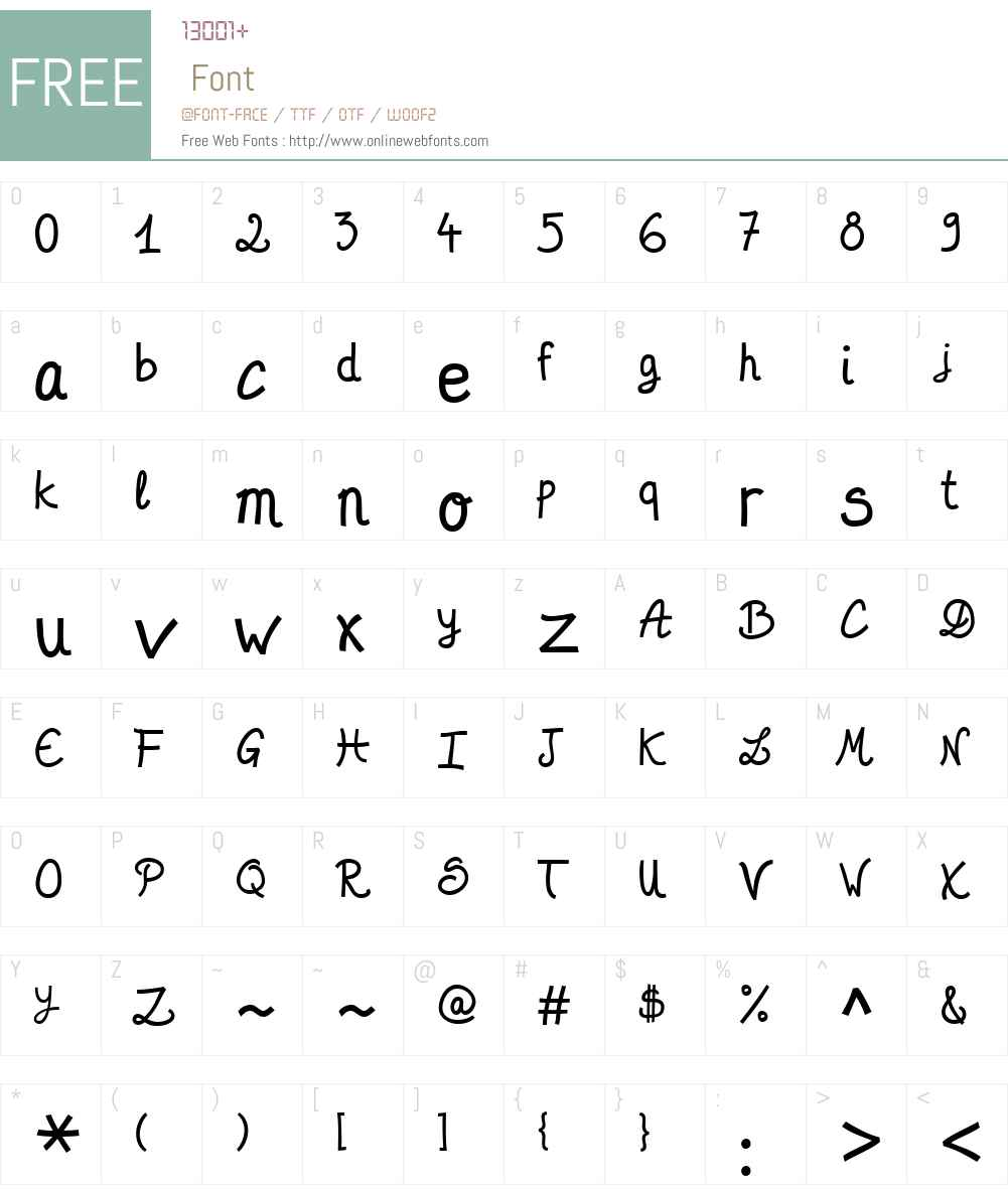Desard Font Screenshots