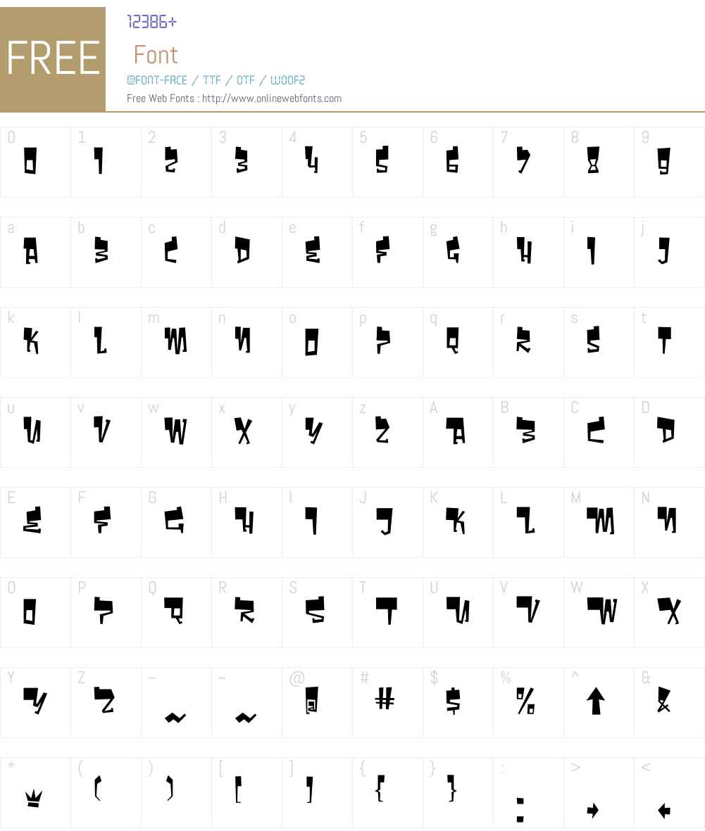 BomrW00-Regular Font Screenshots