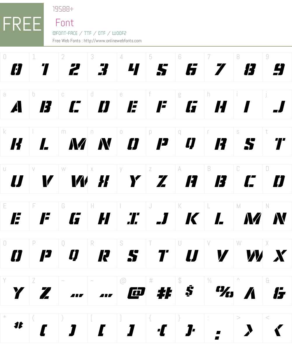 Covert Ops Expanded Italic Font Screenshots
