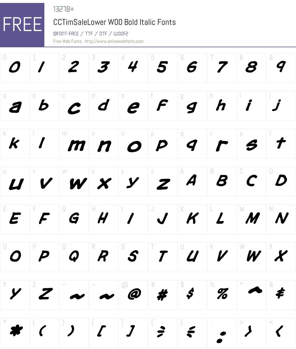 CCTimSaleLowerW00-BoldIt Font Screenshots