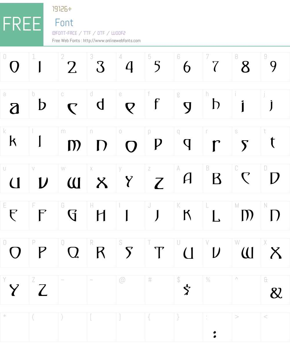 Gismonda Font Screenshots