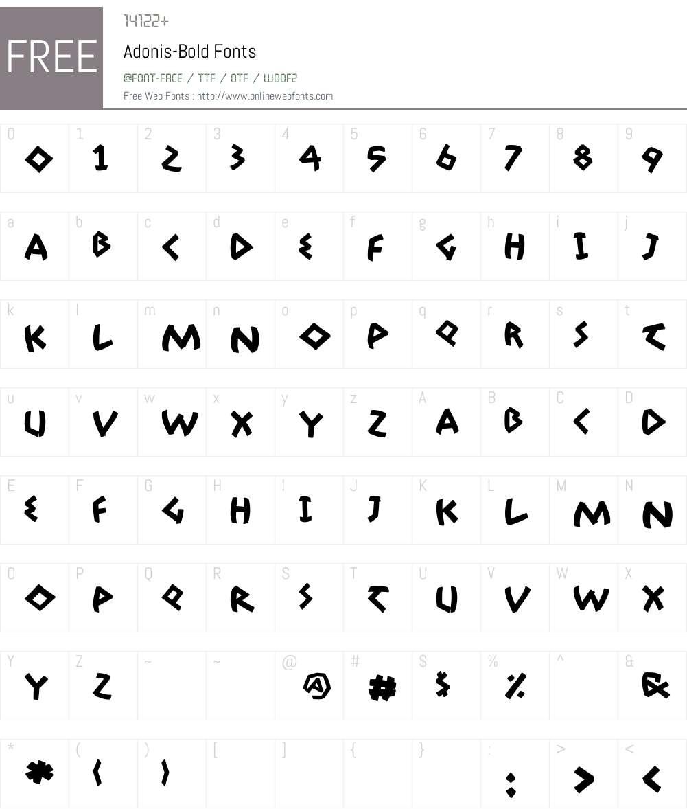 Adonis Font Screenshots