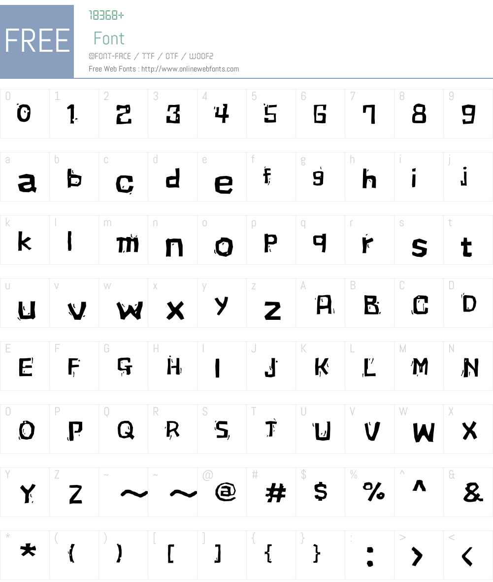 FBWallBW34-Regular Font Screenshots