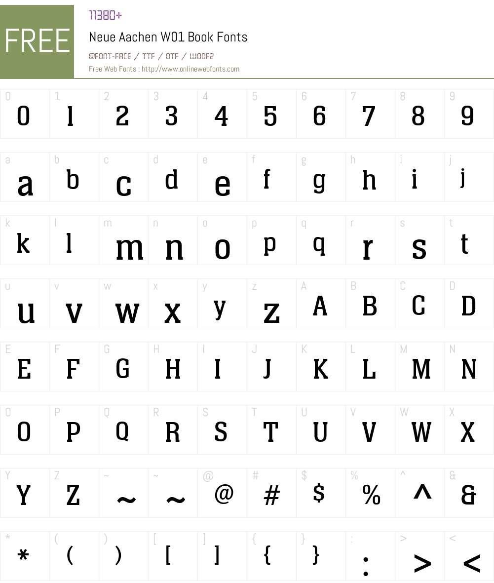 NeueAachenW01-Book Font Screenshots