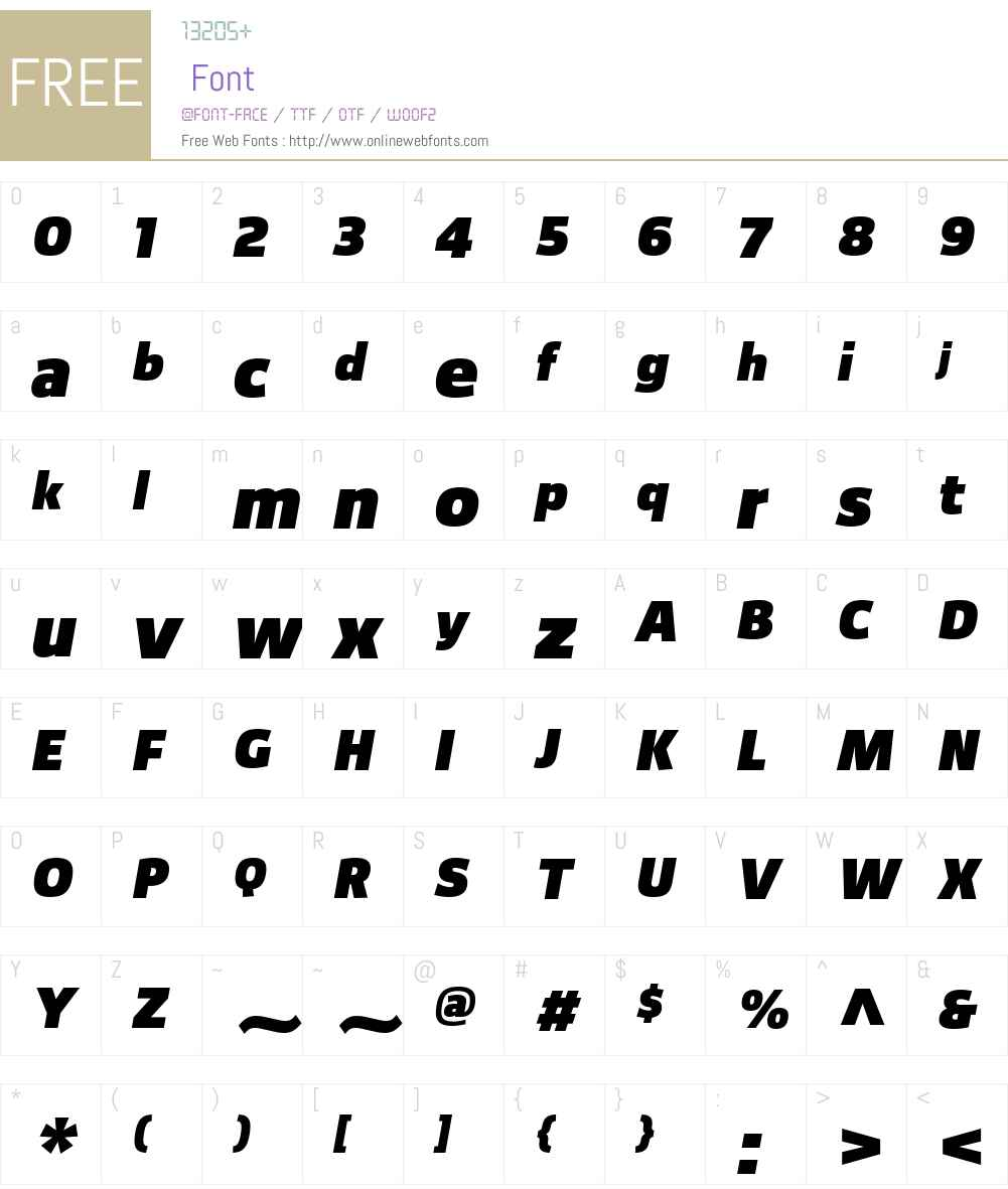 Foros Font Screenshots