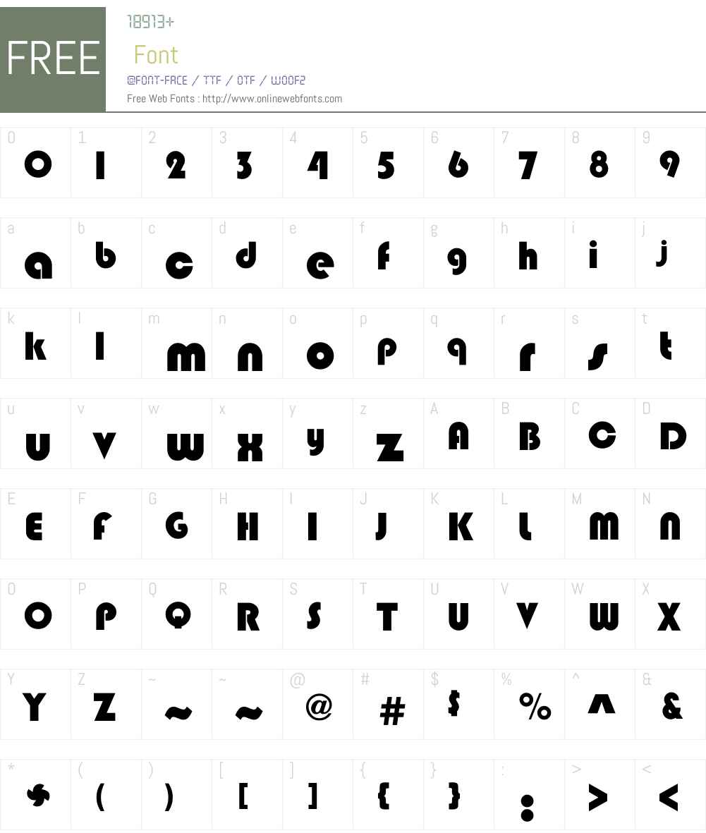 Blipper Font Screenshots