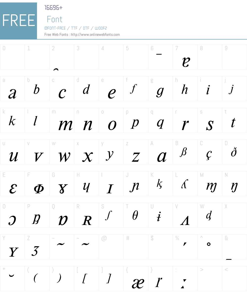 Times Phonetics BQ Font Screenshots