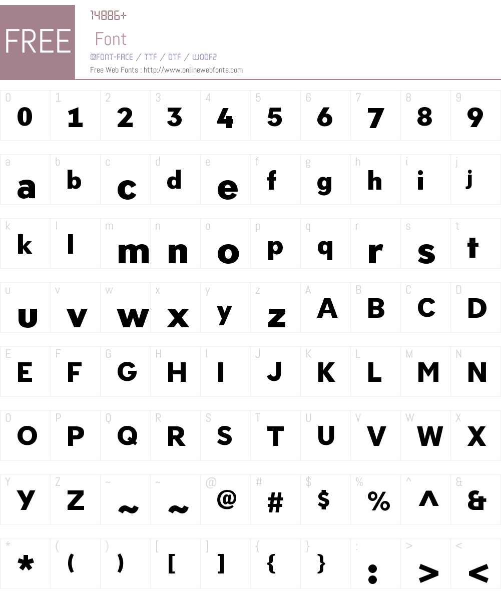 Neology Font Screenshots