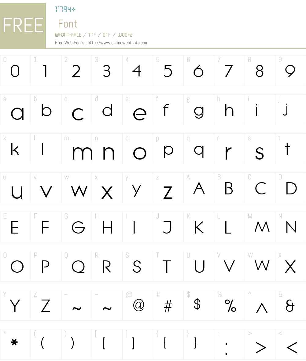 Lithe Font Screenshots