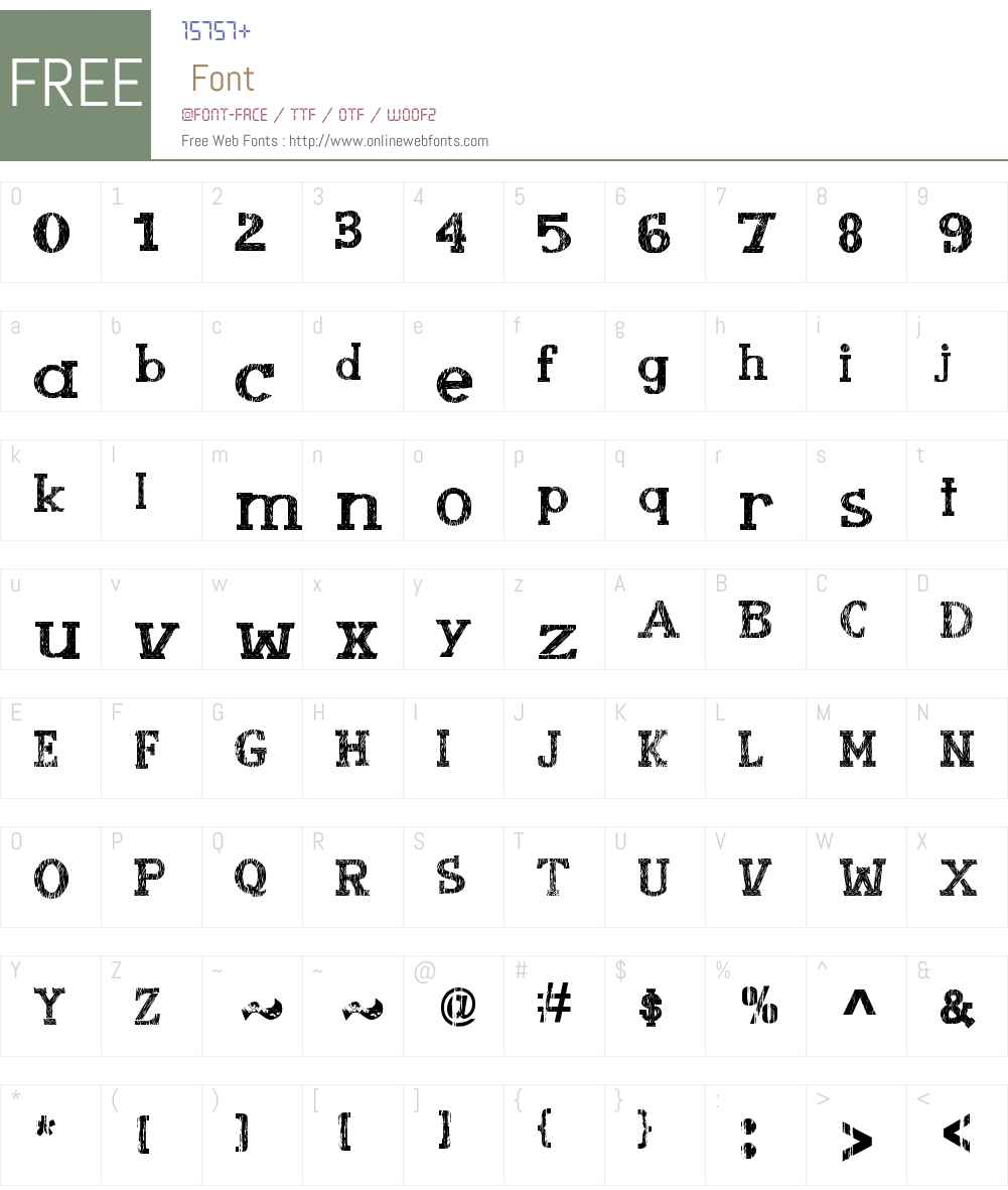 Booklet Cordel Font Screenshots